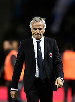 Calcio, Serie A: Bologna, stadio Renato Dall'Ara, 19 settembre 2017.<br /> Bologna's coach Maurizio Donadoni leaves the pitch at the end of the Italian Serie A football match between Bologna and Inter Milan at Bologna's Renato Dall'Ara stadium, September 19, 2017.<br /> UPDATE IMAGES PRESS/Isabella Bonotto