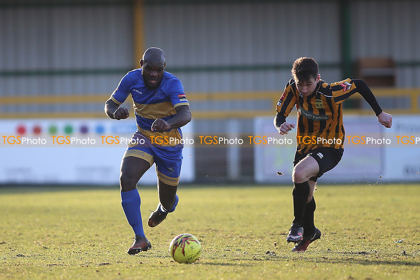 Greg Akpele of Romford during Romford vs Cheshunt, Ryman League Division 1 North Football at Ship Lane on 28th January 2017