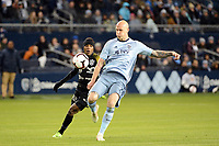Kansas City, Kansas - March 14, 2019: Sporting K.C. defeated Club Atletico Independiente 3-0 in CONCACAF Champions League play at Children's Mercy Park.