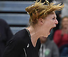 Grace Riddle #6 of Wantagh reacts after her team's 3-2 victory over Kings Park in the girls volleyball Class A Long Island Championship at Farmingdale State College on Sunday, Nov. 11, 2018. The Warriors rallied from an 0-2 set deficit to win.
