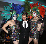 Lance Horne & Drag Queens attending the Liza Minnelli 67th Birthday Celebration at the Copa in New York City on 3/13/2013..