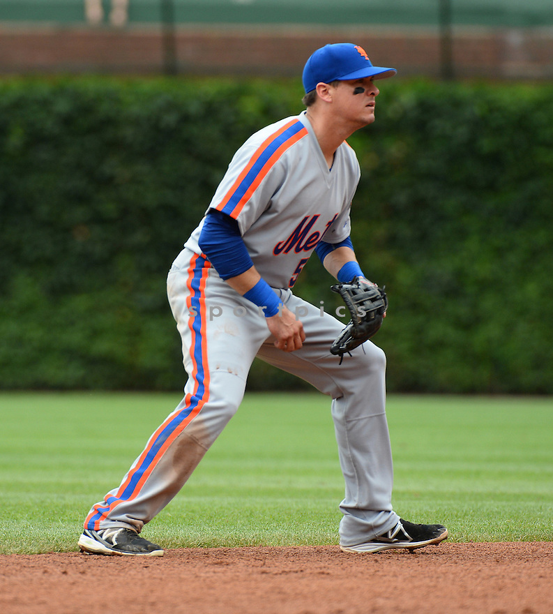 New York Mets Kelly Johnson (55) during a game against the Chicago Cubs on July 20, 2016 at Wrigley Field in Chicago, IL. The Cubs beat the Mets 6-2.
