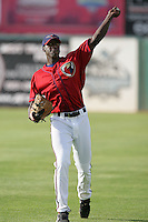 April 17, 2010: Edwin Walker of the Lancaster JetHawks before game against the Rancho Cucamonga Quakes at Clear Channel Stadium in Lancaster,CA.  Photo by Larry Goren/Four Seam Images