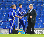 Chelsea's Guus Hiddink meets the medical staff<br /> <br /> Barclays Premier League- Chelsea vs Sunderland - Stamford Bridge - England - 19th December 2015 - Picture David Klein/Sportimage
