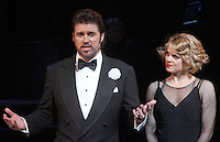 "Billy Ray Cyrus with co-star Amy Spanger taking his curtain call after making his Broadway debut in the musical ""Chicago"" at the Ambassador Theatre in New York, 05.11.2012...Credit: Rolf Mueller/face to face / MediaPunch Inc  ***online only for weekly magazines**** /NortePhoto .<br />
