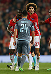 Eric Bailly of Manchester United and Facundo Roncaglia of Celta Vigo are kept apart during the Europa League Semi Final 2nd Leg match at Old Trafford Stadium, Manchester. Picture date: May 11th 2017. Pic credit should read: Simon Bellis/Sportimage
