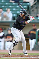 Louisville Bats outfielder Juan Francisco #12 at bat during a game against the Rochester Red Wings at Frontier Field on May 9, 2011 in Rochester, New York.  Rochester defeated Louisville by the score of 7-6 in a marathon 18 inning game.  Photo By Mike Janes/Four Seam Images