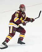 Travis Oleksuk (Duluth - 11) - The Boston College Eagles defeated the University of Minnesota Duluth Bulldogs 4-0 to win the NCAA Northeast Regional on Sunday, March 25, 2012, at the DCU Center in Worcester, Massachusetts.