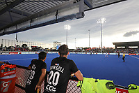 The dugout during the Pro League Hockey match between the Blacksticks men and the Argentina, Nga Punawai, Christchurch, New Zealand, Friday 28 February 2020. Photo: Simon Watts/www.bwmedia.co.nz