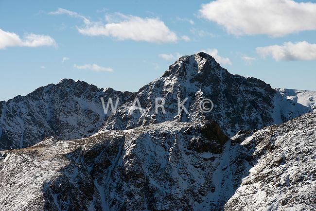 Aerial Rocky Mountains, Collegiate Range. Nov 2012