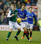 19.12.2018 Hibs v Rangers: Florian Kamberi and Gareth McAuley