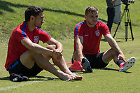Nashville, TN - June 27, 2017: Cristian Roldan and Jordan Morris during Training @ Lipscomb University prior to their 2017 Gold Cup.