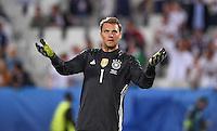FUSSBALL EURO 2016 VIERTELFINALE IN BORDEAUX Deutschland - Italien      02.07.2016 Torwart Manuel Neuer (Deutschland)