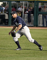 June 4, 2004:  Michael Vento of the Columbus Clippers, International League (AAA) affiliate of the New York Yankees, during a game at Dunn Tire Park in Buffalo, NY.  Photo by:  Mike Janes/Four Seam Images