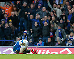 01.02.2020 Rangers v Aberdeen: Ryan Kent after being challenged by Ash Taylor