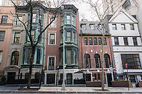 A row of townhouses in the Upper East Side neighborhood of New York on Saturday, January 16, 2016. (© Richard B. Levine)