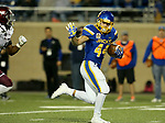 BROOKINGS, SD - OCTOBER 7: Brady Mengarelli #44 from South Dakota State University breaks loose for a 28 yard touchdown run against Southern Illinois in the second half of their game Saturday night at Dana J. Dykhouse Stadium in Brookings. (Photo by Dave Eggen/Inertia)