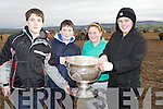 WISH: A wish came trough for 4 lucky children as they got to hold the Sam Maguire Cup at the Abbeydorney Ploughing competition on Sunday, L-r: Neil Beirne, Cian Dowling, Aisling Leahy and JP Byrne............. ....