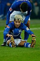 Gelsenkirchen, Germany, 1. Football- BL,  match day 19,<br />FC Schalke 04 - Hannover 96 1-1am <br />21. 01. 2018  in Veltins -Arena auf Schalke  in Gelsenkirchen<br />Amine HARIT (S04)
