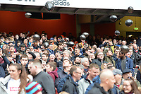 West Ham fans with Black Balons  during Arsenal vs West Ham United, Premier League Football at the Emirates Stadium on 7th March 2020