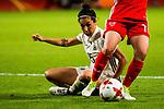 26.07.2017, Stadion Galgenwaard, Utrecht, NLD, Tilburg, UEFA Women's Euro 2017, Russland (RUS) vs Deutschland (GER), <br /> <br /> im Bild | picture shows<br /> Sara Doorsoun (Deutschland #15) im Duell, <br /> <br /> Foto © nordphoto / Rauch