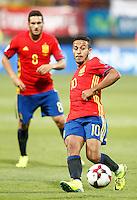 Spain's Koke Resurreccion (l) and Thiago Alcantara during FIFA World Cup 2018 Qualifying Round match. September 5,2016.(ALTERPHOTOS/Acero)