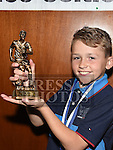 Ardee Celtic Under 9 Blue player of the year Adam Gillspie at the Ardee Celtic annual awards night in Ardee parish centre. Photo:Colin Bell/pressphotos.ie