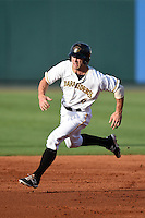 Bradenton Marauders outfielder Taylor Lewis (6) running the bases during a game against the Jupiter Hammerheads on June 25, 2014 at McKechnie Field in Bradenton, Florida.  Bradenton defeated Jupiter 11-0.  (Mike Janes/Four Seam Images)