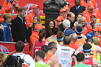Duke and Duchess of Cambridge and Prince Harry<br /> give out Medals at the finish line on The Mall at the 2017 London Marathon, London. <br /> <br /> <br /> &copy;Ash Knotek  D3254  23/04/2017