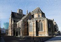 Nederland Rotterdam 2015. De Grote of Sint Laurenskerk bij Blaak. Het oudste gebouw van Rotterdam, gebouwd rond 1500. Foto Berlinda van Dam / Hollandse Hoogte