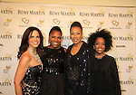 """CNN's Soledad O'Brien and ATWT Tamara Tunie (co-mistresses of ceremonies) pose with Another World's Rhonda Ross (R) and Deborah Koenigsberger (event chair) at Hearts of Gold's 16th Annual Fall Fundraising Gala & Fashion Show """"Come to the Cabaret"""", a benefit gala for Hearts of Gold on November 16, 2012 at the Metropolitan Pavilion, New York City, New York.   (Photo by Sue Coflin/Max Photos)"""