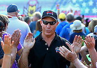 Sep 5, 2016; Clermont, IN, USA; NHRA top fuel driver Pat Dakin during the US Nationals at Lucas Oil Raceway. Mandatory Credit: Mark J. Rebilas-USA TODAY Sports