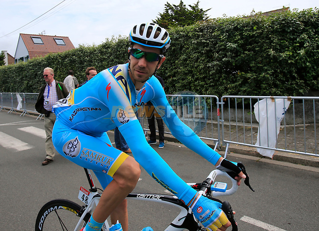 Alessandro Vanotti (ITA) Astana in Le Touquet for the start of Stage 4 of the 2014 Tour de France running 163.5km from Le Touquet to Lille. 8th July 2014.<br /> Picture: Eoin Clarke www.newsfile.ie