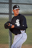 Chicago White Sox pitcher Bryan Saucedo (52) throws in the bullpen during an Instructional League game against the Cincinnati Reds on October 11, 2016 at the Cincinnati Reds Player Development Complex in Goodyear, Arizona.  (Mike Janes/Four Seam Images)