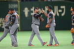 Netherlands team group (NED), <br /> MARCH 15, 2017 - WBC : <br /> 2017 World Baseball Classic <br /> Second Round Pool E Game <br /> between Netherlands 14-1 Cuba <br /> at Tokyo Dome in Tokyo, Japan. <br /> (Photo by YUTAKA/AFLO SPORT)