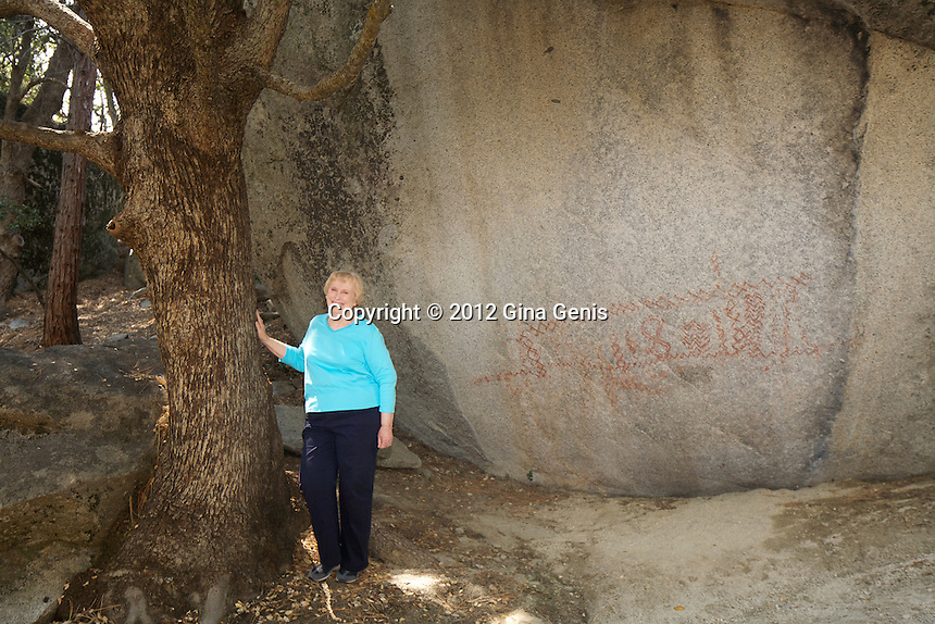 Betsey Clopine at the Indian Pictographs