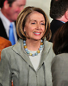 Washington, D.C. - March 23, 2010 -- Speaker of the United States House of Representatives Nancy Pelosi (Democrat of California) smiles after U.S. President Barack Obama signed the version of the health care bill that was passed by the U.S. House of Representatives in the East Room of the White House in Washington, D.C. on Tuesday, March 23, 2010..Credit: Ron Sachs / CNP.(RESTRICTION: NO New York or New Jersey Newspapers or newspapers within a 75 mile radius of New York City)