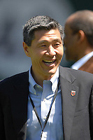 DC United Co-Managing Partner William C.H. Chang smiles during pre-game warmups. DC United defeated Chivas USA 2-1, at RFK Stadium in Washington DC, Sunday May 6, 2007.