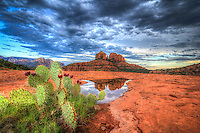 After the rains come magical reflections at Cathedral Rocks in Sedona, Arizona