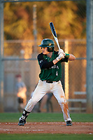 Dartmouth Big Green second baseman Sean Sullivan (4) at bat during a game against the Northeastern Huskies on March 3, 2018 at North Charlotte Regional Park in Port Charlotte, Florida.  Northeastern defeated Dartmouth 10-8.  (Mike Janes/Four Seam Images)