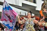 SESIMBRA, PORTUGAL, 07.02.2016 -   CARNAVAL-SESIMBRA - Integrantes do desfile de Carnaval de Sesimbra, em Sesimbra, Portugal, nesse domingo, 07. (Foto: Bruno de Carvalho / Brazil Photo Press)