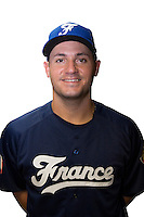 18 September 2012: Carlos Hereaud poses prior to Team France practice, at the 2012 World Baseball Classic Qualifier round, in Jupiter, Florida, USA.
