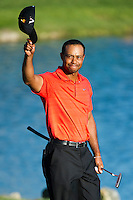 March 25, 2012: Tiger Woods tips his cap after winning his 7th Arnold Palmer Invitational held at Arnold Palmer's Bay Hill Club & Lodge in Orlando, FL