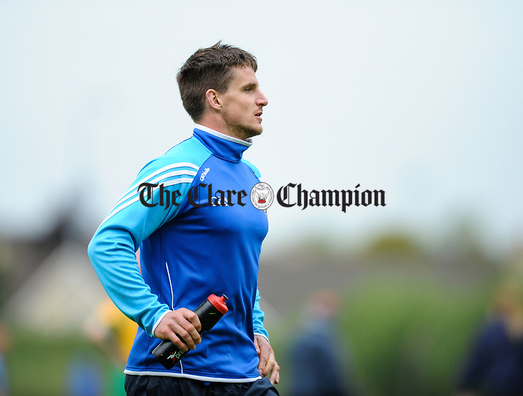 Truagh-Clonlara joint manager John Conlon on the sideline against Inagh-Kilnamona during their first round senior championship game in Shannon. Photograph by John Kelly