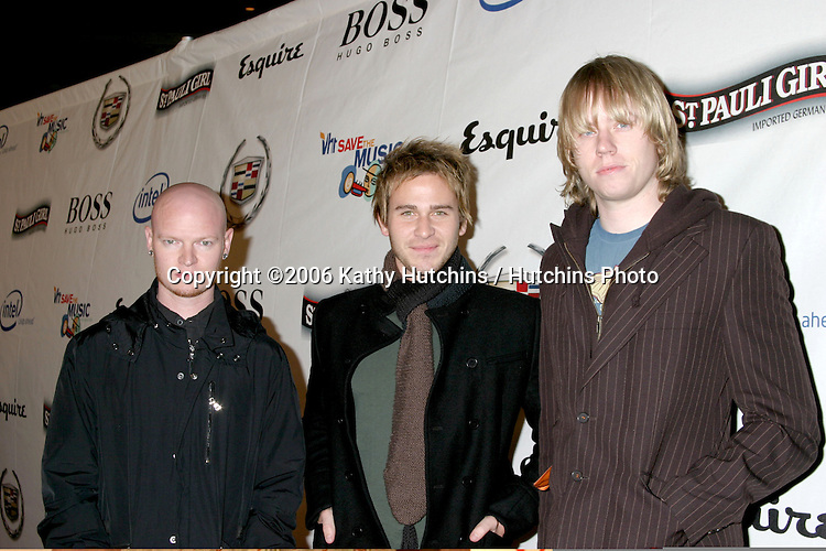 Rick Woolstenhulme Jr., Jason Wade and Bryce Soderberg of Lifehouse .VH1's Big Night for a Big Cause: A Benefit for the VH1 Save the Music Foundation - Arrivals.December 1, 2006 - Esquire House 360.Beverly Hills, California United States.©2006 Kathy Hutchins / Hutchins Photo....                  Rocco DeLuca and the Burden