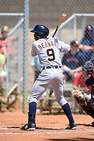 Detroit Tigers outfielder Wynton Bernard (9) during a minor league spring training game against the Houston Astros on March 21, 2014 at Osceola County Complex in Kissimmee, Florida.  (Mike Janes/Four Seam Images)