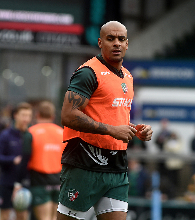 Leicester Tigers' Tom Varndell during the pre match warm up<br /> <br /> Photographer Hannah Fountain/CameraSport<br /> <br /> Gallagher Premiership - Leicester Tigers v Wasps - Saturday 2nd March 2019 - Welford Road - Leicester<br /> <br /> World Copyright © 2019 CameraSport. All rights reserved. 43 Linden Ave. Countesthorpe. Leicester. England. LE8 5PG - Tel: +44 (0) 116 277 4147 - admin@camerasport.com - www.camerasport.com