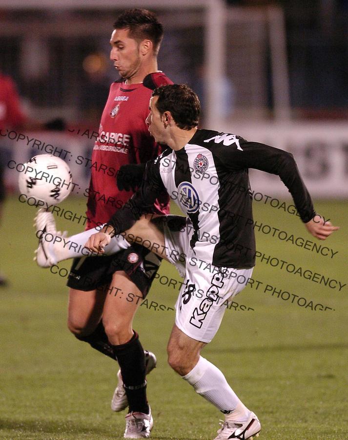 SPORT FUDBAL SOCCER PARTIZAN BELGRADE LIVORNO UEFA CUP  Lazic Predrag 2.11.2006. photo: Pedja Milosavljevic<br />