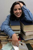 Ragazza e libri. Girl and books....
