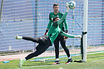 Getafe's Jean Paul Garcia (f) and David Soria during training session. May 25,2020.(ALTERPHOTOS/Acero)